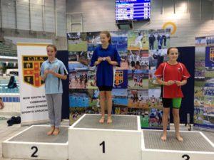 Tijana recieving medal at CHS